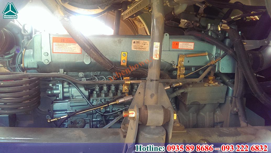 Xe ben HOWO động cơ 371HP thùng vuông