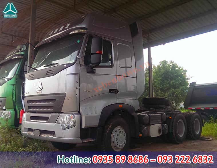 Đầu kéo HOWO A7 động cơ 375HP tải trọng 38,02 tấn