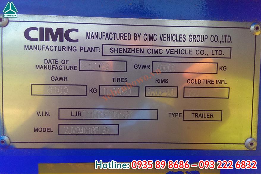 Mooc xi téc chở xi măng rời CIMC 29m3