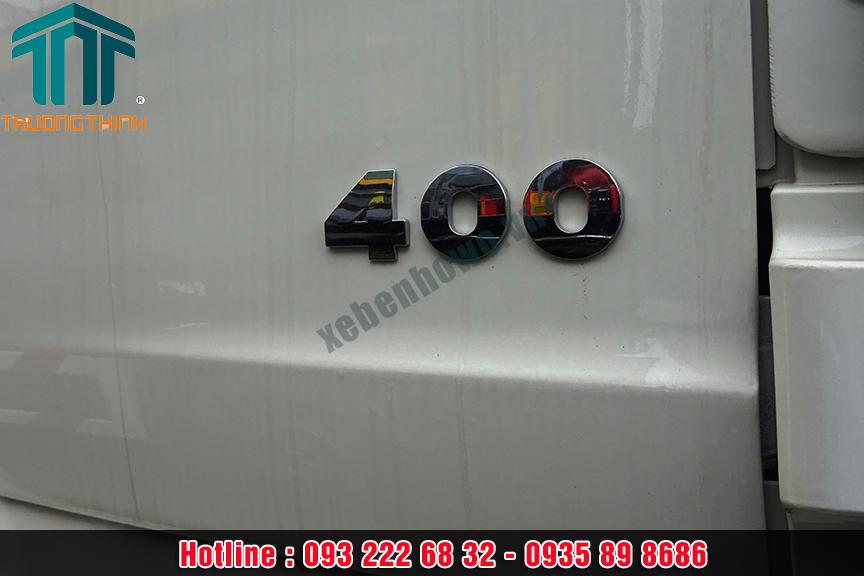 Xe trộn bê tông SHACMAN 12 m3 công suất 400 HP