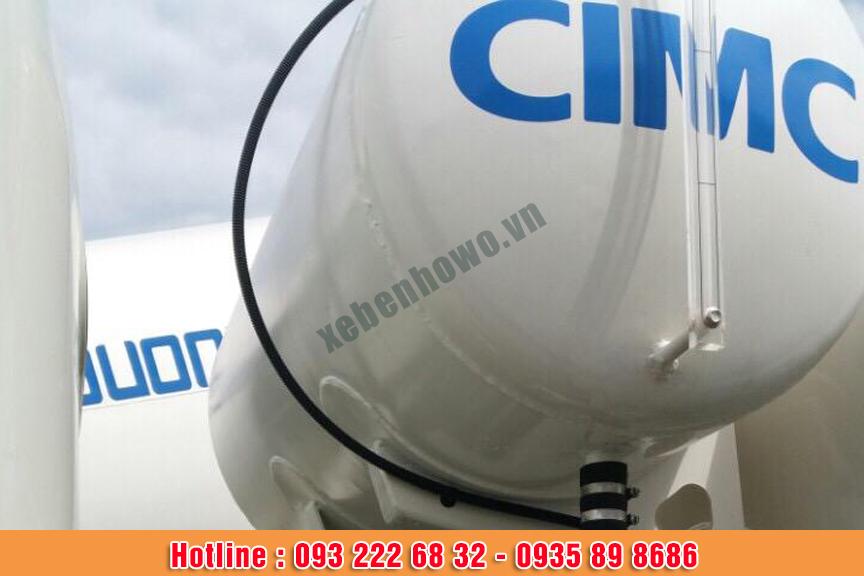 Bồn trộn bê tông 5 m3 HOWO thùng trộn CIMC thâm quyến