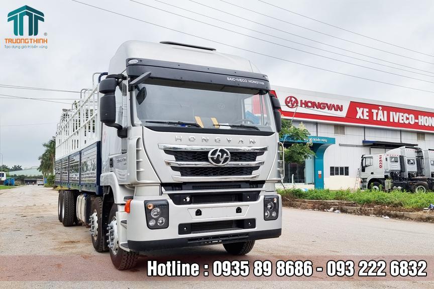 Xe tải thùng 4 chân HongYan Iveco máy 350HP Euro IV
